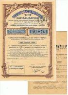 CAISSE FRATERNELLE  CAPITALISATION à LILLE  (NORD) 1931 - Vieux Papiers
