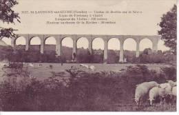 85 ST LAURENT SUR SEVRE - D8 1 - (moutons) Viaduc De Barbin Sur La Sèvre - Nr 1137 Jehly Poupin - - Unclassified