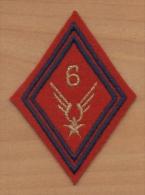 Ecusson Patch Losange ALAT Aviation Légère Armée De Terre / 6° Régiment ARTILLERIE ( Cadre ) - Ecussons Tissu