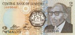 BILLET # LESOTHO  # 2 MALOTI # 1989  # PICK 9 # NEUF # - Lesotho