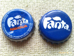Lote 2 Chapas Kronkorken Caps Tappi Fanta. España - Capsules & Plaques De Muselet