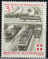 Austria 1961, Conference On Transportation, 3sh, MNH - 1945-.... 2nd Republic