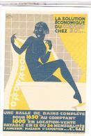 CPM PUBLICITE    GAZ  SALLE DE BAIN  PIN UP   CP361 - Publicité