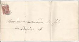 - Lettre - SEINE - PARIS - Càd S/TP Type Cérès IIIème République N°58 Seul/S L  - 1874 - PORT LOCAL - 1871-1875 Ceres