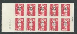 St Pierre Et Miquelon Carnet N° C 557 XX  Carnet De 10 X 2 F. 50 Marianne Du Bicentenaire Le Carnet TB - Cuadernillos/libretas