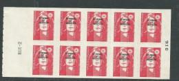 St Pierre Et Miquelon Carnet N° C 590 XX  Carnet De 10 X Ss Val Rouge Marianne Du Bicentenaire Le Carnet TB - Cuadernillos/libretas