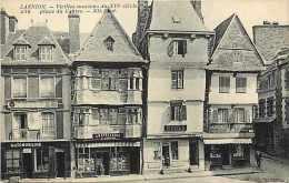 Cotes D Armor -ref C47- Lannion - Vieilles Maisons Place Du Centre  - Carte Bon Etat - - Lannion