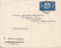 IRLAND 1939, 3 P Frankierung Auf Firmenbrief, Gel.v.Dublin N.Bamberg - 1937-1949 Éire