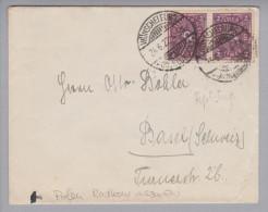 Heimat Polen Wünschelburg (Radkow) 1922-06-24 Brief Nach Basel Mit 2x 2RM Posthorn - 1919-1939 Republic