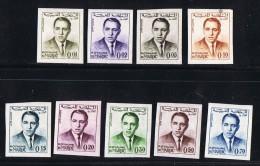 1962  Roi Hassan II   9 Valeurs  Non Dentelé  ** - Maroc (1956-...)