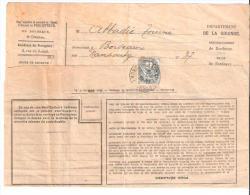 Type Blanc 1 C Gris Seul  Sur Avertissement Perception Impot  Taxe Habitation, Bordeaux ; 1927 - 1900-29 Blanc