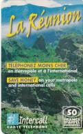 REUNION ISL. - Mountains, Intercall Prepaid Card, First Issue 50 FF, Used - Reunion
