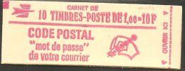 France Carnet 1892 C2a Béquet 1.00 Rouge Carnet Ouvert Presse 4 Gomme Mate - Carnets