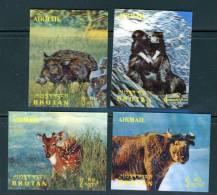 Bhutan 1970, 3D Stereo Stamp - Wild Animals - Airmail **, MNH (not Complete) - Bhutan