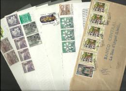 ANDORRA- LOTE DE 6 CARTA CIRCULADAS CORREO ESPAÑOL (N-A1) - Lettres & Documents