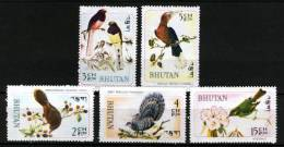Bhutan 1968, Birds *, MLH (not Complete) - Bhutan