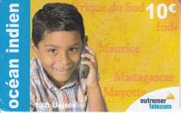REUNION - Child, Outremer Telecom Prepaid Card 10 Euro, Tirage 20000, Used