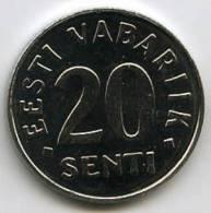 Estonie Estonia 20 Senti 1999 UNC KM 23a - Estonie