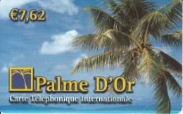 "REUNION - Palm D""Or Prepaid Card 7.62 Euro, Used - Reunion"