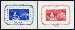 ROMANIA 1960 Olympic Games Blocks MNH/**.  Michel Blocks 46-47 - Blocks & Sheetlets