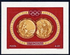 ROMANIA 1961 Olympic Medals Block MNH / **.  Michel Block 50 - Blocks & Sheetlets