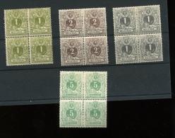 42/45* Blocs De 4 Neufs Avec Charnière     Cote 90x4= 360 € (en 2019)  TRES FRAIS  ZEER FRIS - 1869-1888 Lion Couché