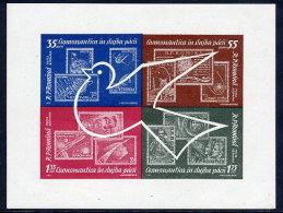 ROMANIA 1962 Space Exploration  Block MNH / **.  Michel Block 53 - Blocks & Sheetlets