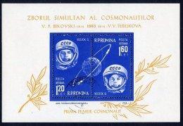 ROMANIA 1963 Vostok 5 And 6 Group Flights  Block MNH / **.  Michel Block 54 - Blocks & Sheetlets