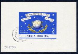 ROMANIA 1964 Space Exploration Block Used.  Michel Block 56 - Blocks & Sheetlets