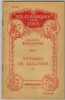 """LES CLASSIQUES POUR TOUS N° 230 :  """" Voyages De Gulliver II  - SWIFT  - Librairie Hatier """" - Books, Magazines, Comics"""