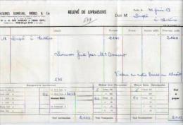 Relevé De Livraison Brasseries Dumesnil Rue Dareau Paris 30-06-1959 Pour Mr Dupré Lectoure - Bière - France