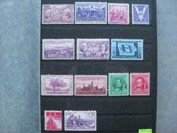 Timbres Etats-unis : 1937- 1938 * - United States
