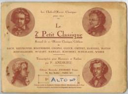 LE PETIT CLASSIQUE 1er Alto Mi Recueil 21 Oeuvres Classiques Pour Harmonie Et Fanfare Par F Andrieu  Descriptif - Blasinstrumente