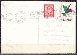 AK Buenos Aires, Obelisco, MiF, Flugpost-Bandstempel Mit Flugzeug, Nach Rotterdam 1964 (47609) - Argentinien