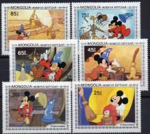Film-Bilder Comic Mickymaus Als Zauberlehrling 1983 Mongolei 1531-7 ** 3€ Walt-Disney Figur Micky-mouse Set Of Mongolia - Disney