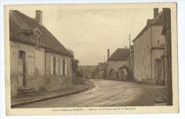 CPA - Couches Les Mines : Entrée Du Faubourg De La Varenne