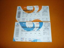 Basketball Euroleague Final Four Istanbul 2012 Match Ticket Tickets Panathinaikos Olympiakos Barcelona CSKA Moscow - Tickets D'entrée