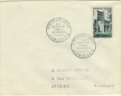 ENVELOPPE 1er JOUR  - N° 985 - ABBAYE De JUMIEGES - Année 1954 - FDC