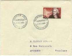 ENVELOPPE 1er JOUR  - N° 1081 - PARMENTIER - Année 1956 - FDC