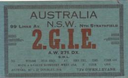 CARTE QSL   AUSTRALIE  RADIO AMATEUR   /////   REF  2014  FEV /  N° 1145 - Sydney