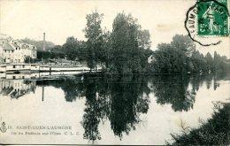 SAINT-OUEN-L'AUMONE (95)  - Ile De Pothuis Sur L'Oise Avec Les Bains Douche  Sur La Rive De Pontoise - Saint Ouen L'Aumone