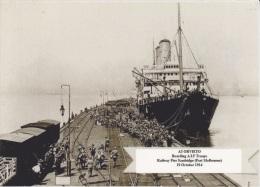 ORVIETO As HMAT A3 Railway Pier Port Melbourne 1914 WW1 Modern RPPC Postcard - Piroscafi
