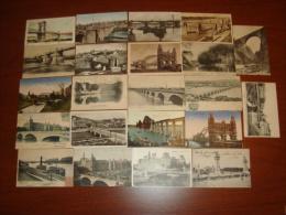 BRIDGE Building Architecture  Collection Lot Of 22 Vintage  Ca1900 Original Postcard Cpa Ak (WL3_02) - Puentes