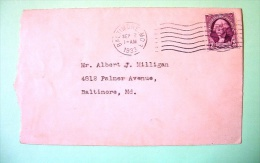 USA 1933 Cover Baltimore To Baltimore - Washington - Booklet Stamp - Etats-Unis