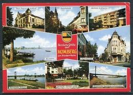 Homberg / Mehrbildkarte M. Wappen - Gel. 1991 - Krapohl-Verlag, Grevenbroich - Duisburg