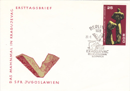 Monument Kragujevac - FDC From DDR 1967    (G49-27A) - Storia Postale