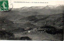 F464  Chamborigaud  Le Viaduc Cachet Convoyeur Ligne Clermont à Nimes 1°  1910 - Chamborigaud