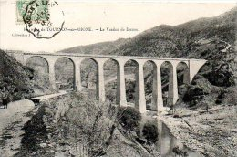 F452  Ardèche  Tournon  Viaduc Du Duzon  Cachet Ambulant  La Voulte à Lyon  1906 - Tournon