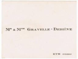 Mr & Mme GRAVELLE-DEBIEVE ETH NORD - Cartes De Visite
