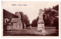 CPA SARZAY MONUMENT AUX MORTS PLACE DE L'EGLISE - Other Municipalities